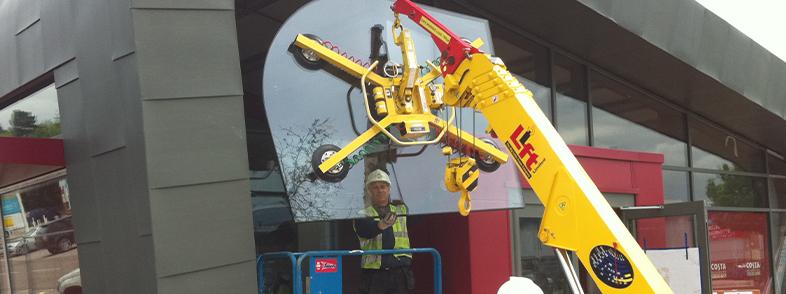 Glass Lifting Crane Hire